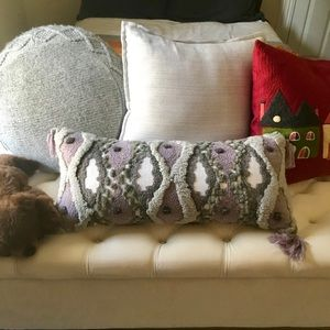 Anthropologie All Roads Tufted Pillow